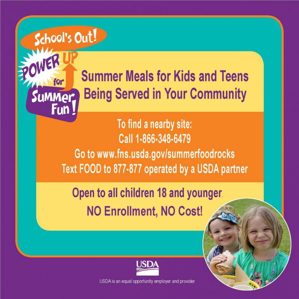 Summer Food Program | Crews Lake Middle School